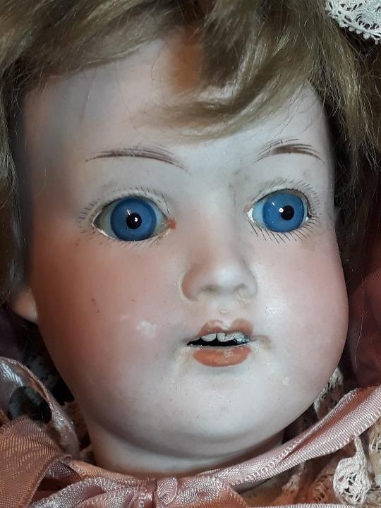 Muñecas Porcelana: MUÑECA. CARA DE BISCUIT. TREBOR. 22 POM. ALEMANIA. 45 CM. - Foto 4 - 110653727