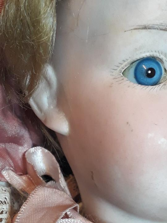 Muñecas Porcelana: MUÑECA. CARA DE BISCUIT. TREBOR. 22 POM. ALEMANIA. 45 CM. - Foto 5 - 110653727