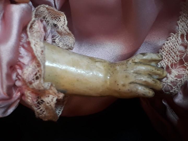 Muñecas Porcelana: MUÑECA. CARA DE BISCUIT. TREBOR. 22 POM. ALEMANIA. 45 CM. - Foto 6 - 110653727