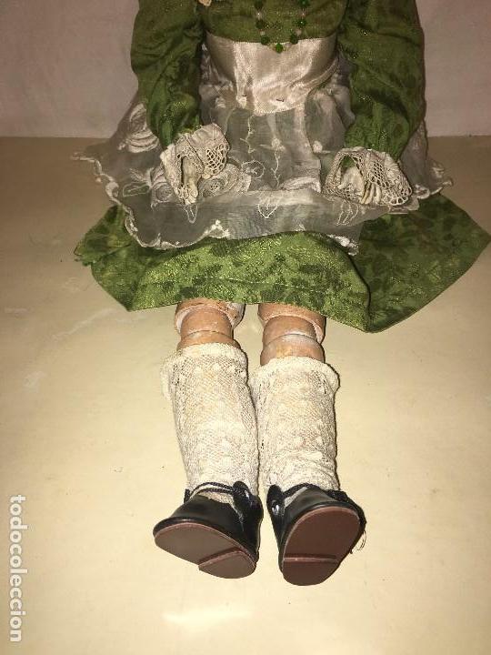 Muñecas Porcelana: ANTIGUA MUÑECA ALEMANA GERMANY CABEZA NUMERADA EN PORCELANA CUERPO ARTICULADO MADERA S.XIX, 58 CMTS - Foto 3 - 112159179