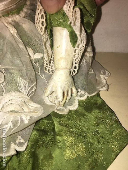 Muñecas Porcelana: ANTIGUA MUÑECA ALEMANA GERMANY CABEZA NUMERADA EN PORCELANA CUERPO ARTICULADO MADERA S.XIX, 58 CMTS - Foto 8 - 112159179