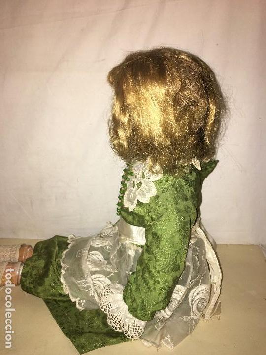Muñecas Porcelana: ANTIGUA MUÑECA ALEMANA GERMANY CABEZA NUMERADA EN PORCELANA CUERPO ARTICULADO MADERA S.XIX, 58 CMTS - Foto 14 - 112159179