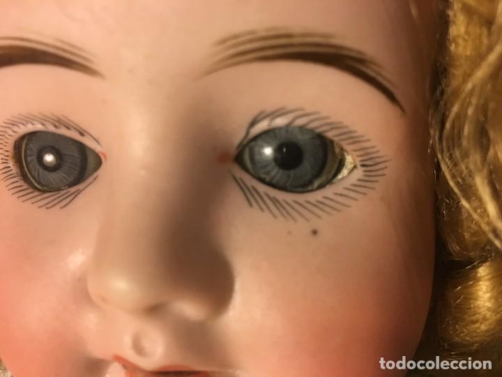 Muñecas Porcelana: ANTIGUA MUÑECA ALEMANA GERMANY CABEZA NUMERADA EN PORCELANA CUERPO ARTICULADO MADERA S.XIX, 58 CMTS - Foto 27 - 112159179