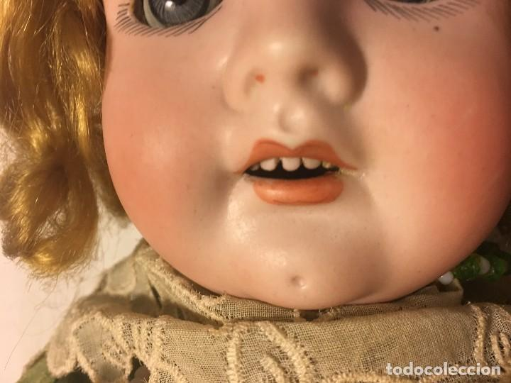 Muñecas Porcelana: ANTIGUA MUÑECA ALEMANA GERMANY CABEZA NUMERADA EN PORCELANA CUERPO ARTICULADO MADERA S.XIX, 58 CMTS - Foto 28 - 112159179