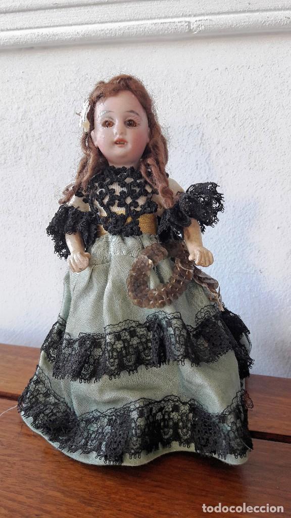 MUÑECA ANTÍGUA. CABEZA DE BISCUIT (Juguetes - Muñeca Extranjera Antigua - Porcelana Alemana)