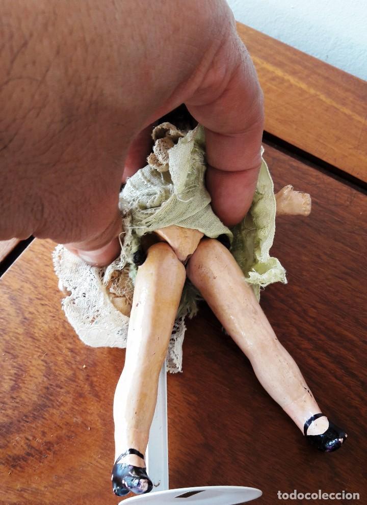 Muñecas Porcelana: Muñeca pequeña antígua. Cabeza de biscuit. - Foto 5 - 116926595