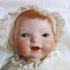 Muñecas Porcelana: PRECIOSO BEBE ALEMAN, MARCADO, CABEZA PORCELANA, CUERPO TRAPO. DOLL, POUPÉE. Lote 117131391
