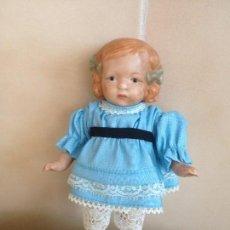 Muñecas Porcelana: ANTIGUA MUÑECA DE PORCELANA ALEMANA CUERPO COMPLETO DE PORCELANA ROPA ORIGINAL. Lote 118102043
