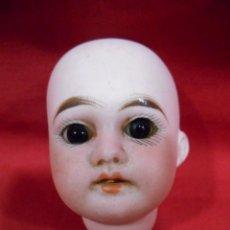 Muñecas Porcelana: PRECIOSA CABEZA DE PORCELANA TIPO BISCUIT MARCADA EN LA NUCA - SIGLO XIX -. Lote 120753671