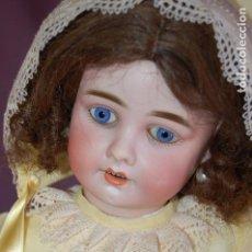 Muñecas Porcelana: MUÑECA ALEMANA MARCADA CON UN SÍNBOLO. Lote 121979683