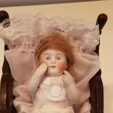 Muñecas Porcelana: BEBE ALEMAN EN CUNA.. Lote 121981858