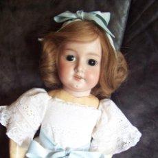 Muñecas Porcelana: MUÑECA DE PORCELANA ALEMANA,ARMAND MARSEILLE 1894. ALTURA 57 CM. OJOS FIJOS DE CRISTAL, PELO NATURAL. Lote 122147215