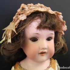Muñecas Porcelana: ANTIGUA MUÑECA ALEMANA ARMAND MARSEILLE MARCADA / ANTIQUE BISQUE SHOULDER HEAD DOLL. Lote 124329563