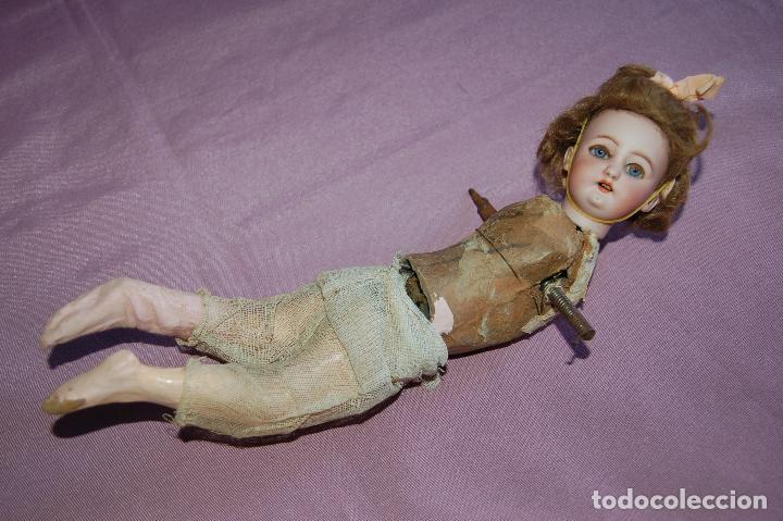 Muñecas Porcelana: muñeca automata ondina nadadora simon halbig - Foto 3 - 127578331