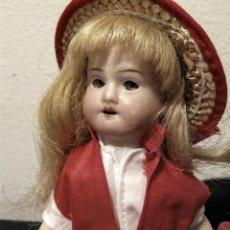 Muñecas Porcelana: ANTIGUA MUÑECA ALEMANA, CABEZA DE PORCELANA.. Lote 128298499