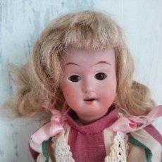 Muñecas Porcelana: ANTIGUA MUÑECA ALEMANA, CABEZA DE PORCELANA W & S.. Lote 128376751