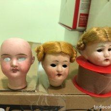 Muñecas Porcelana - Lote de tres cabezas de porcelana - 129451695