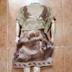 Muñecas Porcelana: ANTIGUO CUERPO ALEMÁN DE MADERA Y COMPOSICIÓN 45 CM. Lote 129499207