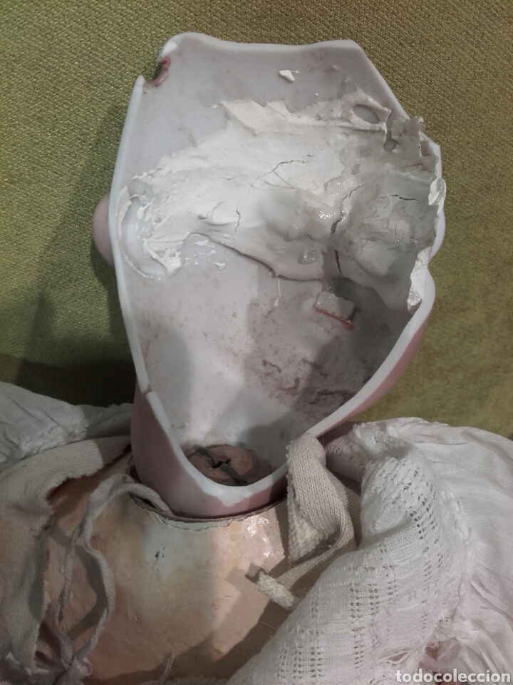 Muñecas Porcelana: MUÑECA CON CABEZA DE PORCELANA ARMAND MARSEILLE, CON MARCAS EN LA NUCA AM 11 DEP, ALEMANIA. - Foto 3 - 62568576