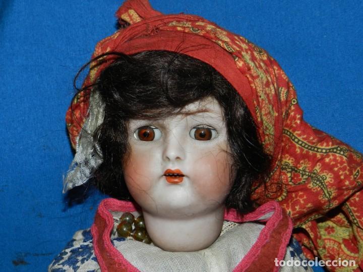 (M) MUÑECA DE PORCELANA ANTIGIA BOCA ABIERTA , GERMANY 30 , MARCA EN EL CUELLO, VER FOTOGRAFIAS (Juguetes - Muñeca Extranjera Antigua - Porcelana Alemana)