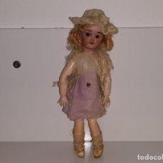 Muñecas Porcelana: ANTIGUA MUÑECA ALEMANA DE CELULOIDE Y PORCELANA SIMON HALBIG 1078 S&H ORIGINAL PPIOS SIGLO XX. Lote 132061862