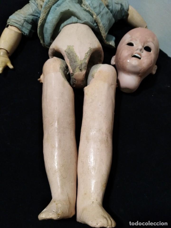 Muñecas Porcelana: Antigua muñeca de 1894 A.M. DEP alemana - Foto 6 - 132477486