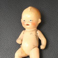 Muñecas Porcelana: MUÑECO BEBE ANTIGUO ALEMAN EN PORCELANA. ARTICULADO. Lote 133907630