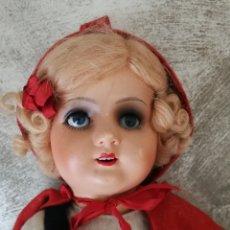 Muñecas Porcelana: ANTIGUA MUÑECA CAPERUCITA ALEMANA. Lote 134959102