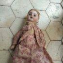 Muñecas Porcelana: PRECIOSA MUÑECA CABEZA DE PORCELANA CUERPO DE MADERA. Lote 137754776