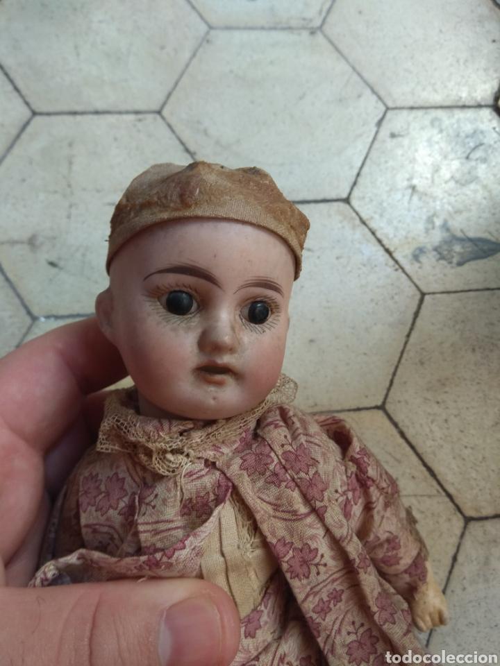 Muñecas Porcelana: Preciosa Muñeca Cabeza de Porcelana Cuerpo de Madera - Foto 3 - 155978313