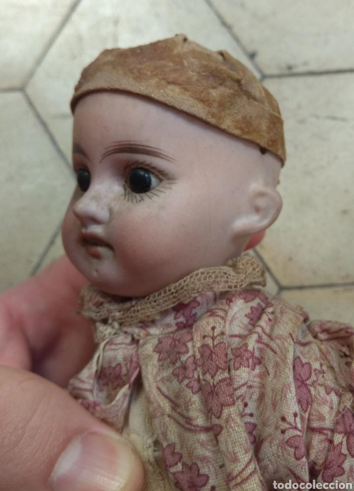 Muñecas Porcelana: Preciosa Muñeca Cabeza de Porcelana Cuerpo de Madera - Foto 4 - 155978313