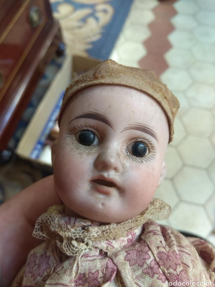 Muñecas Porcelana: Preciosa Muñeca Cabeza de Porcelana Cuerpo de Madera - Foto 7 - 155978313