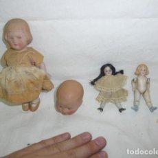 Muñecas Porcelana: LOTE 4 MUÑECA DE PORCELANA ANTIGUA, DE FINALES SIGLO XIX Y PRINCIPIOS SIGLO XX. Lote 138202106