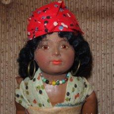 Muñecas Porcelana: MUÑECA PORCELANA,NEGRA CON NIÑO,HEUBACH,GERMANY,PPIO DEL S.XX. Lote 138887358