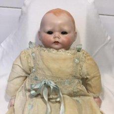 Muñecas Porcelana: PRECIOSO MUÑECO BEBE DE PORCELANA Y TRAPO. Lote 140432402