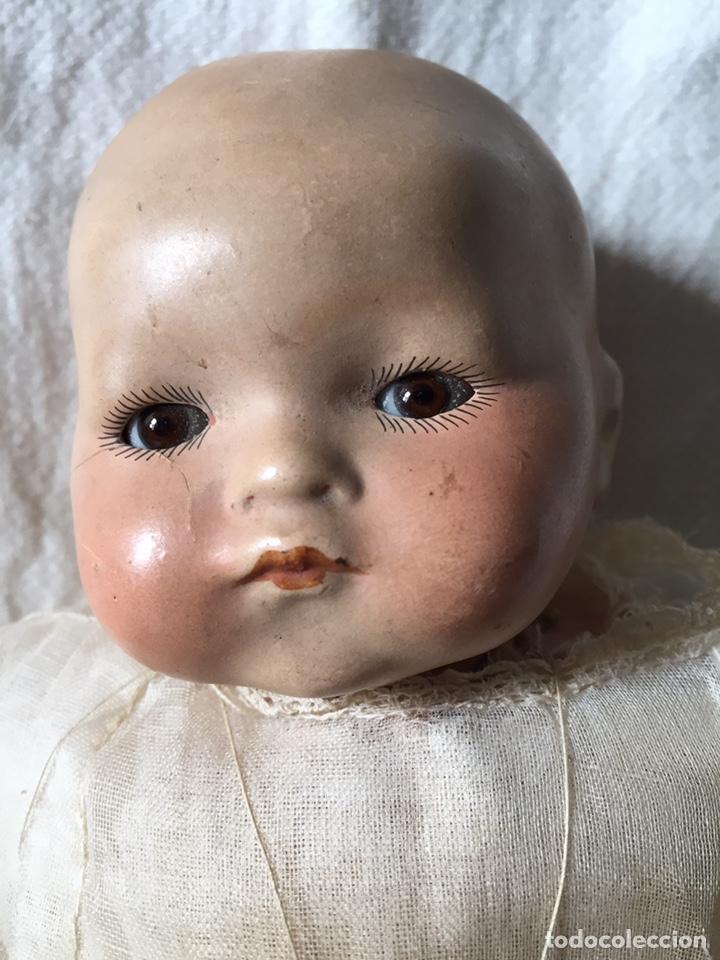 Muñecas Porcelana: MUÑECA BEBÉ DE PORCELANA Y CUERPO DE TRAPO 24CM. OJOS MOVILES. 190X - Foto 3 - 139475417