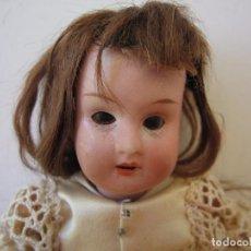 Muñecas Porcelana: MUÑECA ALEMANA DE PORCELANA BISQUE 1914 THEODOR RECKNAGEL MARCADA EN LA NUCA DEP 17 CM.. Lote 141852602
