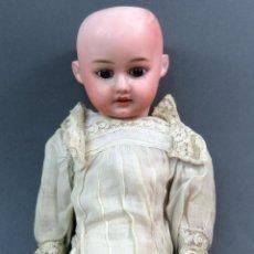 Muñecas Porcelana: MUÑECA CABEZA PORCELANA ARMAND MARSEILLE AM 1904 2 CUERPO MADERA ARTICULADO 42 CM ALTO. Lote 142436850