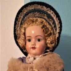 Muñecas Porcelana: PRECIOSA SIMON HALBIG 390,CON VESTIDO ORIGINAL ,SIGLO XIX ,60CM. Lote 142907354