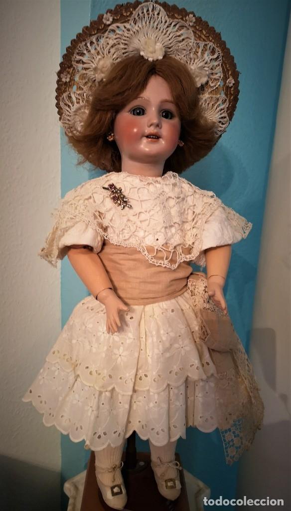Muñecas Porcelana: IMPRESIONANTE MUÑECA DE PORCELANA ,MARCADA EN LA NUCA ,SIGLO XX ,CON ATUENDO ORIGINALES - Foto 2 - 142908870