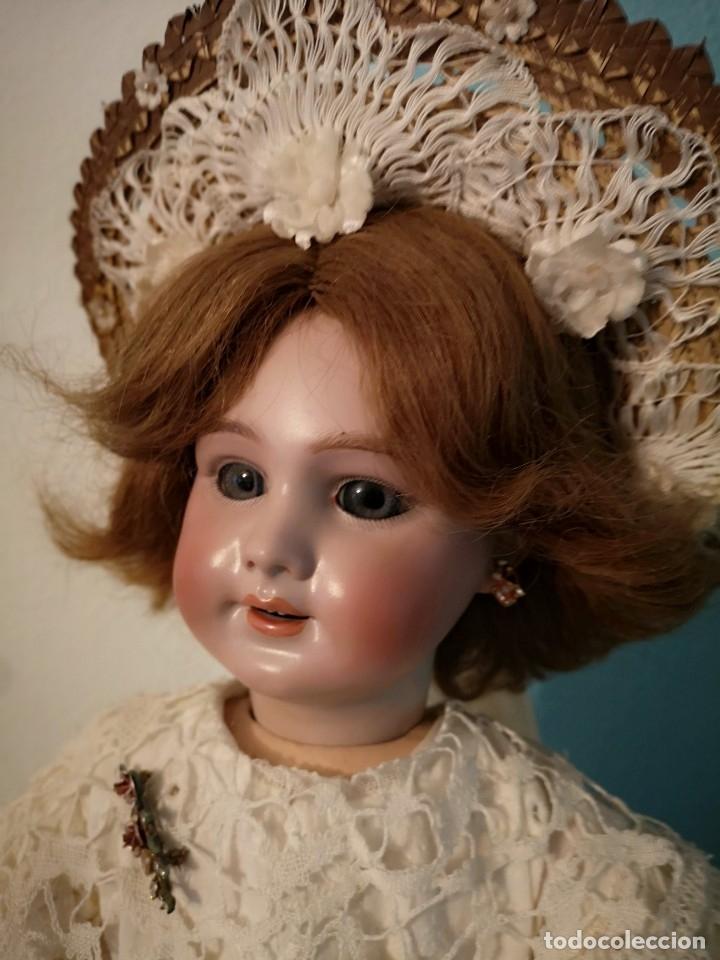 Muñecas Porcelana: IMPRESIONANTE MUÑECA DE PORCELANA ,MARCADA EN LA NUCA ,SIGLO XX ,CON ATUENDO ORIGINALES - Foto 4 - 142908870