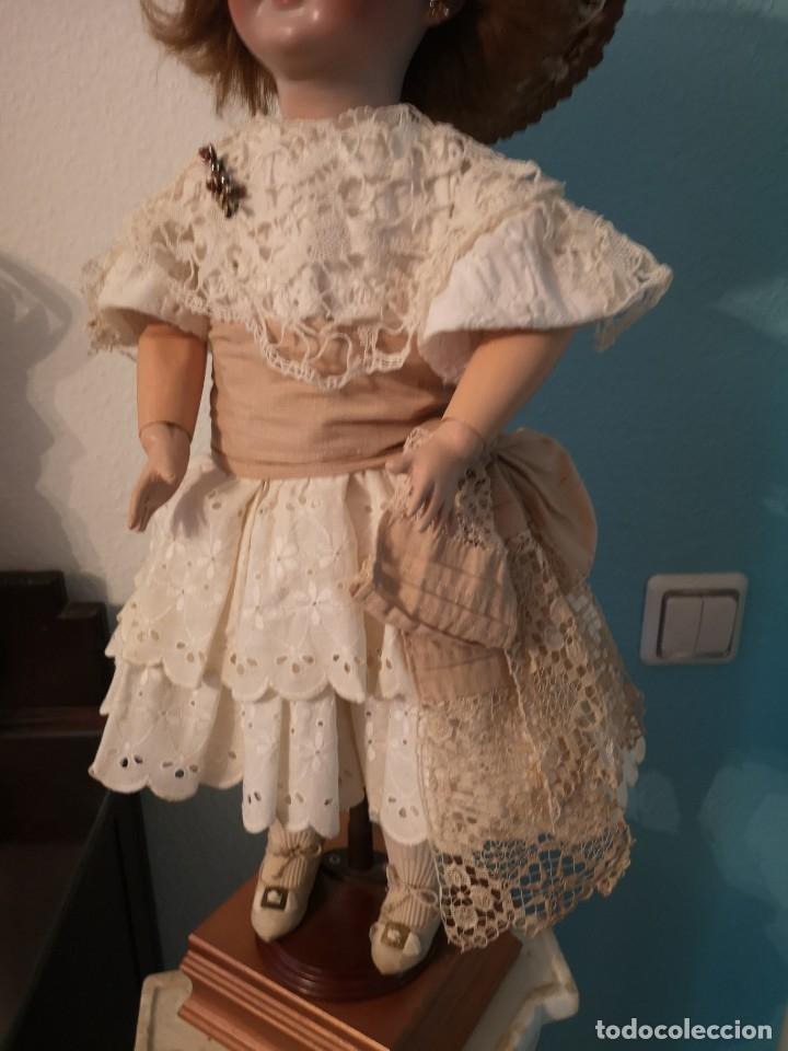 Muñecas Porcelana: IMPRESIONANTE MUÑECA DE PORCELANA ,MARCADA EN LA NUCA ,SIGLO XX ,CON ATUENDO ORIGINALES - Foto 5 - 142908870