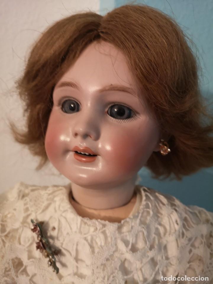 Muñecas Porcelana: IMPRESIONANTE MUÑECA DE PORCELANA ,MARCADA EN LA NUCA ,SIGLO XX ,CON ATUENDO ORIGINALES - Foto 8 - 142908870