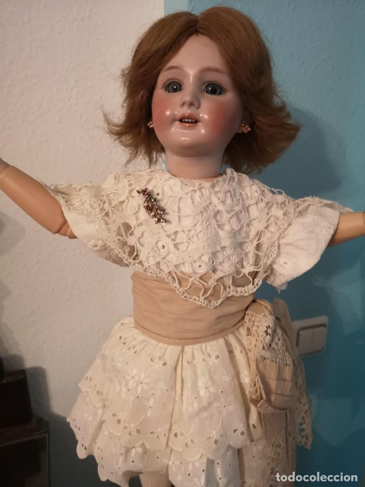 Muñecas Porcelana: IMPRESIONANTE MUÑECA DE PORCELANA ,MARCADA EN LA NUCA ,SIGLO XX ,CON ATUENDO ORIGINALES - Foto 9 - 142908870