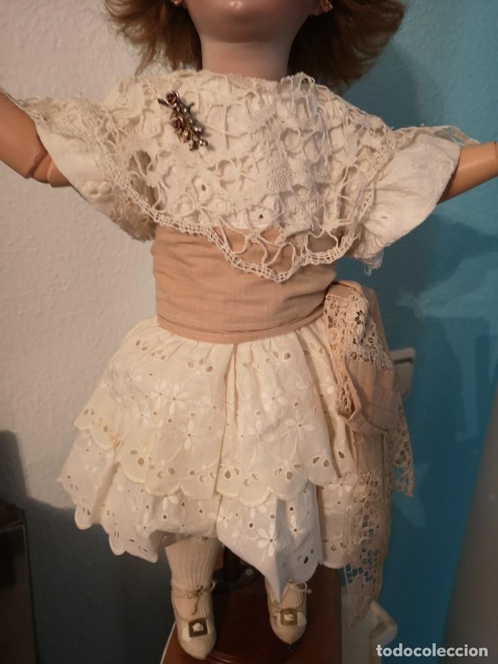Muñecas Porcelana: IMPRESIONANTE MUÑECA DE PORCELANA ,MARCADA EN LA NUCA ,SIGLO XX ,CON ATUENDO ORIGINALES - Foto 10 - 142908870