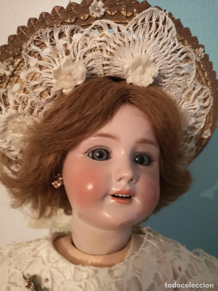 Muñecas Porcelana: IMPRESIONANTE MUÑECA DE PORCELANA ,MARCADA EN LA NUCA ,SIGLO XX ,CON ATUENDO ORIGINALES - Foto 13 - 142908870