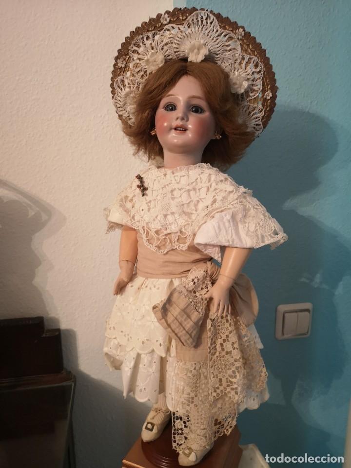 Muñecas Porcelana: IMPRESIONANTE MUÑECA DE PORCELANA ,MARCADA EN LA NUCA ,SIGLO XX ,CON ATUENDO ORIGINALES - Foto 14 - 142908870
