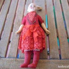 Muñecas Porcelana: MUÑECA CABEZA DE PORCELANA Y CUERPO EN MADERA POLICROMADA MARCADO EN NUCA 325/ 3 RESTAURAR. Lote 145352594