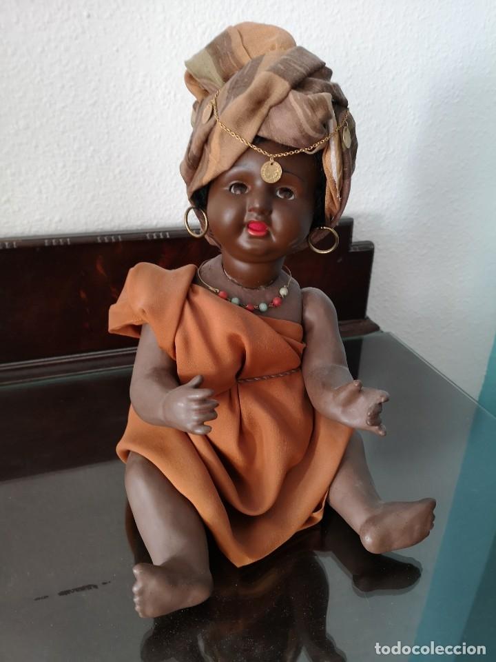 Muñecas Porcelana: PRECIOSO BEBE ALEMÁN ,VESTIDO DE ÁRABE AÑOS 30 ,45CM - Foto 4 - 145596134