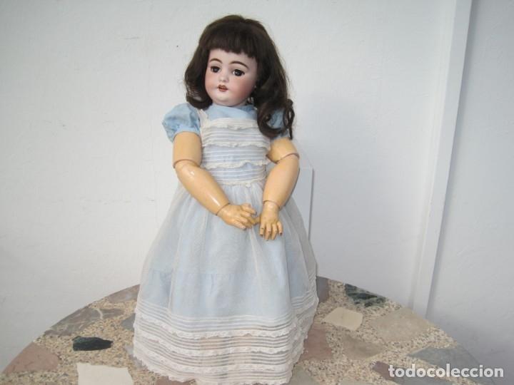 Muñecas Porcelana: PRECIOSA MUÑECA DE PORCELANA SIMON & HALBIG DEP 1039, CUERPO JUMEAU DIPLOME DHONEUR 53 CM APROX. - Foto 2 - 55099415